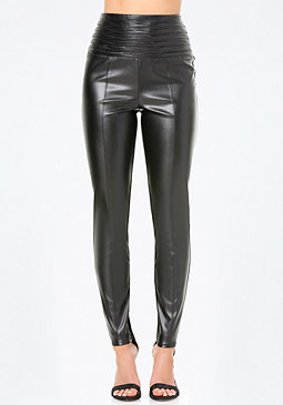 bebe High Tuck Waist Leggings