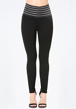 bebe Rhinestone High Leggings