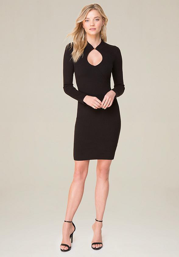 Long Sleeve Dresses: Black, White & More | bebe