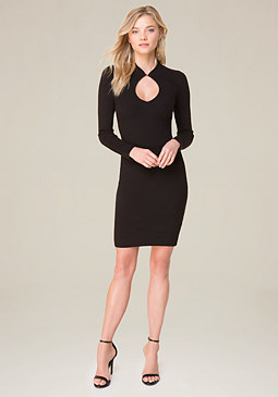 bebe Keyhole Knit Dress