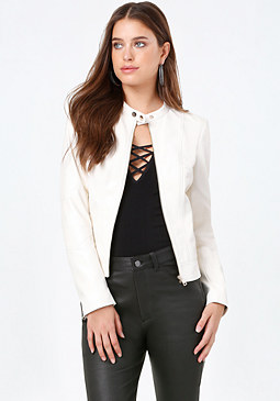 Seam Detail Jacket at bebe