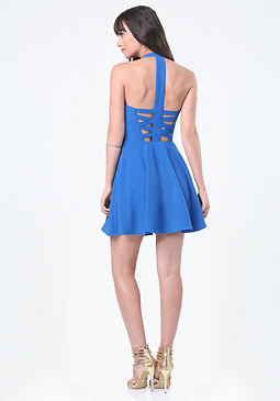 bebe Back Crisscross Dress