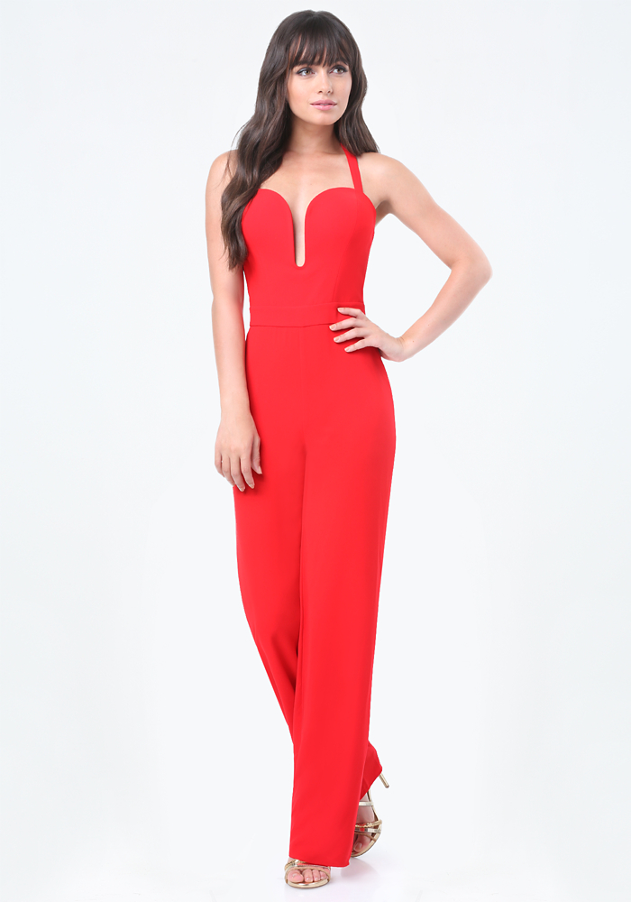 Back Crisscross Jumpsuit - Featured Designers - bebe x Naven | bebe