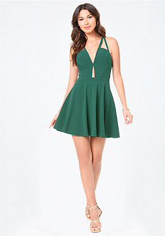Crisscross Plunge Dress