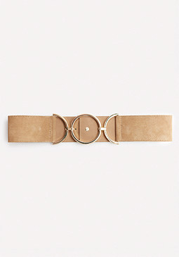 bebe Suede Circle Accent Belt