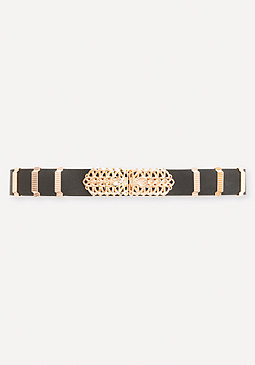 bebe Scrolling Buckle Belt