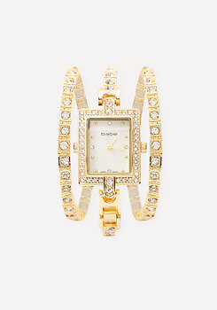 bebe Delicate Crystal Watch