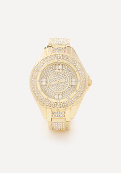 bebe Crystal Boyfriend Watch