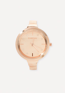 bebe Minimalist Face Watch