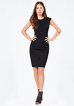bebe Chantilly Cap Sleeve Dress