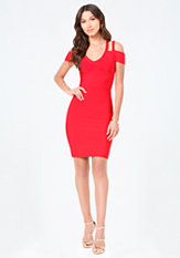 bebe Half Sleeve Strappy Dress