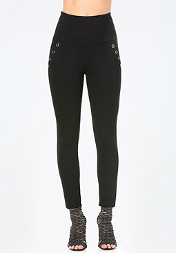 bebe Snap High Rise Leggings