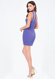 Tina Ponte Mock Neck Dress