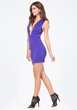 bebe Kylie Plunge Dress