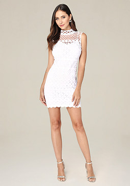 bebe Donna Laser Cut Dress