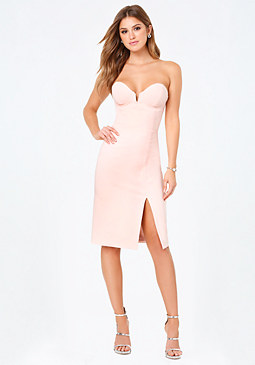 bebe Lola Strapless Dress
