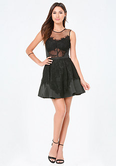 Heidi Lace Flared Dress