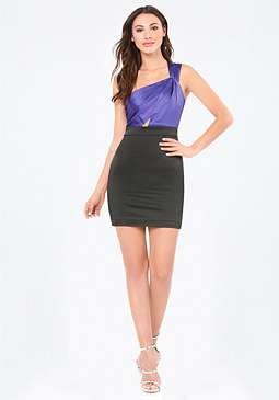 bebe Karen Single Shoulder Dress