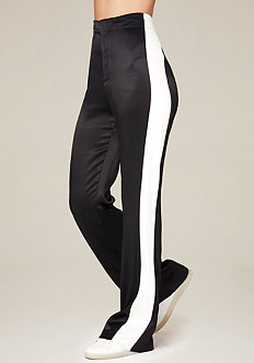 Colorblock Satin Pants
