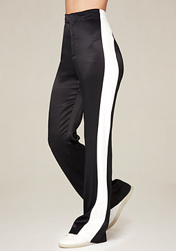 bebe Colorblock Satin Pants