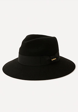 bebe Grosgrain Band Wool Fedora