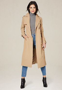bebe Long Trench Coat