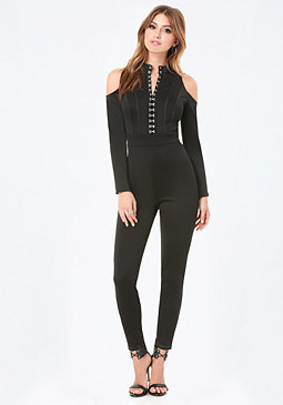 bebe Hook & Eye Catsuit