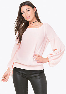 Poet Sleeve Blouson Top