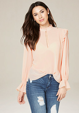 bebe Romantic Ruffle Top