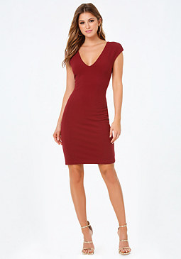 bebe Adriana Textured Dress