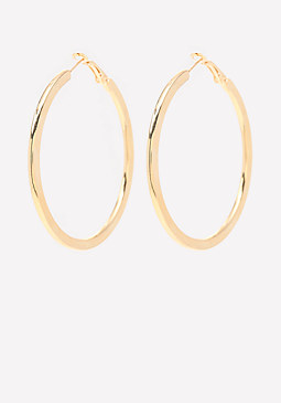 bebe Goldtone Hoop Earrings