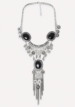 bebe 3-Stone Statement Necklace