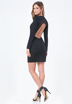 bebe Open Back Power Knit Dress
