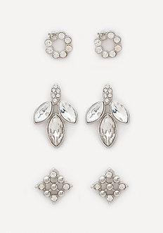 Sparkling Stud Earring Set