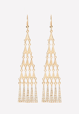 bebe Geo Chandelier Earrings