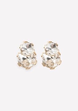 bebe Glam Front-Back Earrings