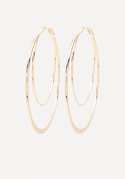 bebe Sculpted Hoop Earrings