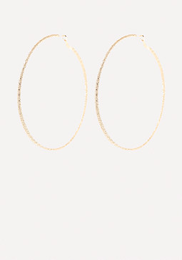 bebe Goldtone Dust Hoop Earrings
