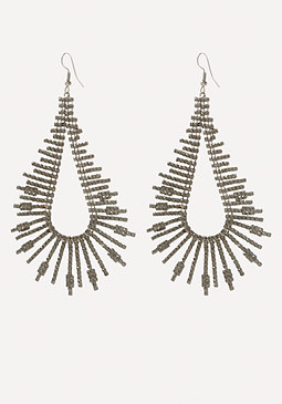 bebe Crystal Bar Loop Earrings