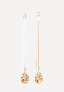 bebe Drop Pull Through Earrings