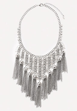 bebe Baguette Bib Necklace