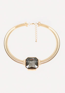 bebe Square Crystal Necklace