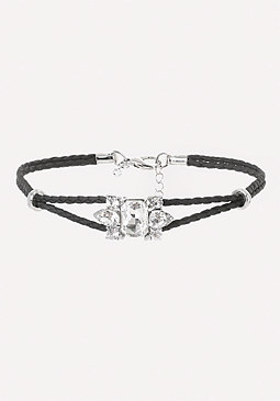 bebe Braided Leather Choker