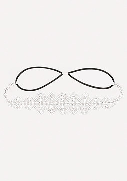 bebe Crystal Scroll Headband