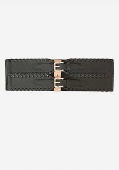 Whipstitch 2-Buckle Belt
