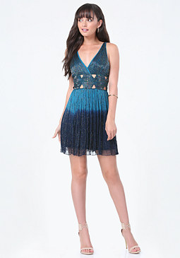 bebe Beaded Cutout Dress