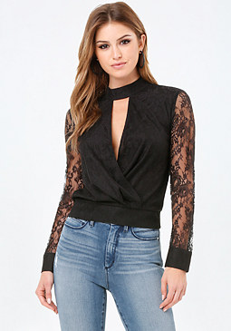 bebe Georgina Surplice Top