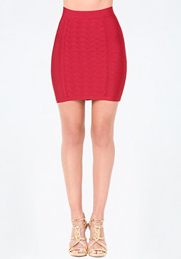 bebe Basket Weave Knit Skirt