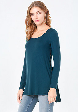 bebe Side Zip Tunic