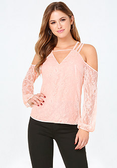 Lace Strappy Shoulder Top